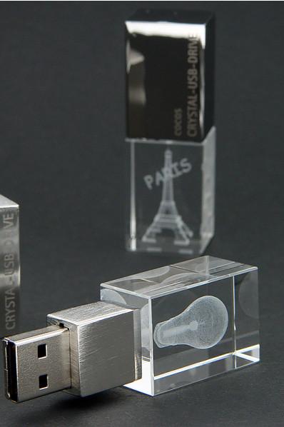 Memoria USB de Cristal