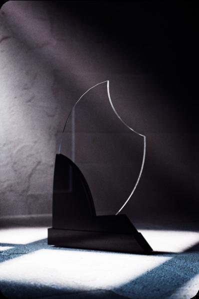 Placa Elíptica de Cristal