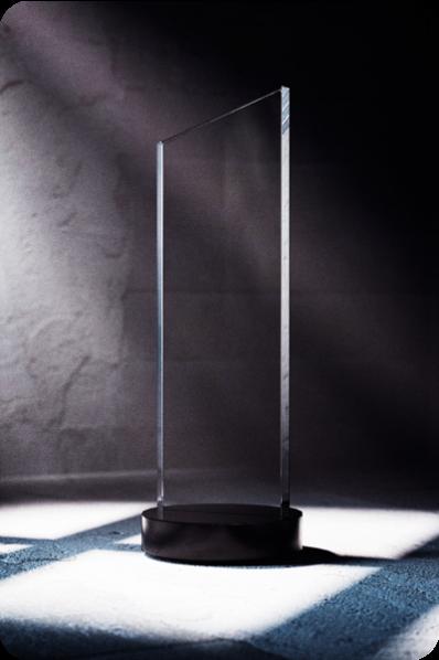 Trofeo de Cristal Esbelto