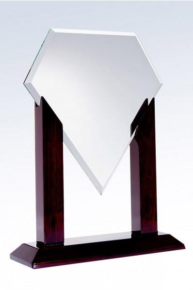 Trofeo de Cristal con forma geométrica de Superman