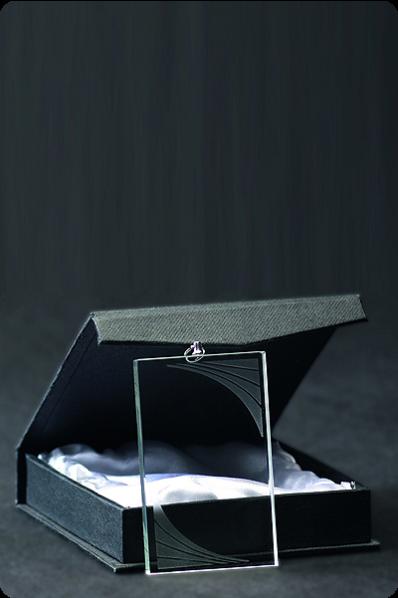 Medalla de Cristal Rectangular