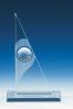 Placa Triangular con Pelota de Golf