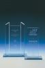 Trofeo de Cristal con Pilares Laterales