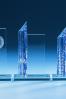 Placa con Columna Azul