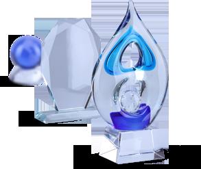 Trofeos de vidrio